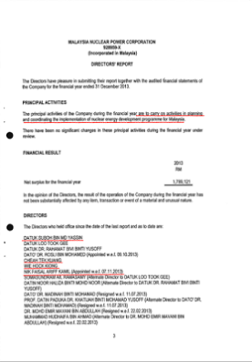 Blog page 2 rausyanfikirblog 3rd page from mnpc annual report for 2013 clearly listed down their principal activities as well as the four non nuclear gentlemen closely linked with altavistaventures Choice Image